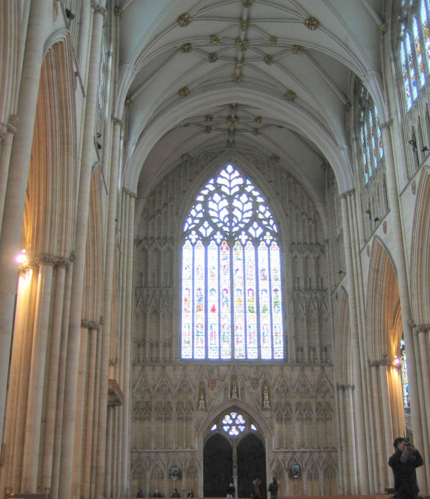 York minster nave looking west for West window york minster